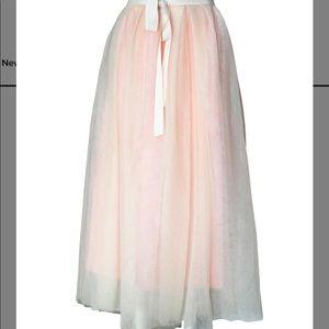 J. Crew pink Tulle ball skirt